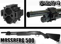 Mossberg 500 Shotgun Upgrades Tactical Weaver Rail Scope Mount Aluminum Black.