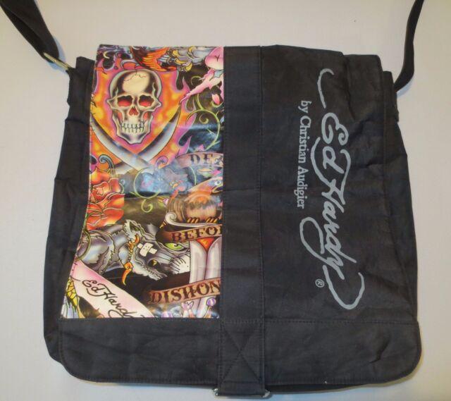 ED HARDY by Christian Audigier LARGE MESSENGER BAG