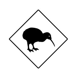 kiwi aufkleber auto folie kfz neuseeland new zealand vogel sticker schild ebay. Black Bedroom Furniture Sets. Home Design Ideas