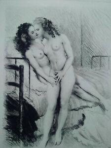 Rare-curiosa-Paul-Emile-Becat-deux-etats-deux-gravures-parfait-etat-estampes