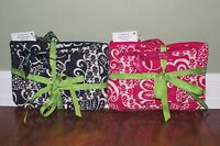 Vera Bradley Twirly Birds Navy Or Pink Cosmetic Trio Set Of 3 Travel Cases