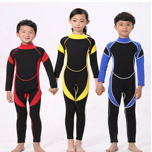 cbc141b282 New 2.5MM Neoprene Warm Wetsuits Kids Diving Suits Surfing Boys ...