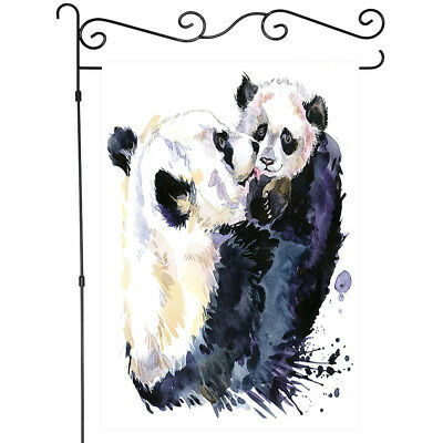 Hand Drawn Giant Panda Garden Flag Spring Fabric Double Sided House Banner Ebay