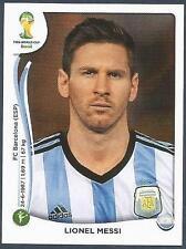 PANINI WORLD CUP 2014- #430-ARGENTINA & BARCELONA-LIONEL MESSI
