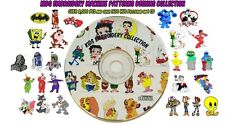 Kids Embroidery Machine Patterns Designs PES & .HUS ON DVD - Cartoon Embroidery
