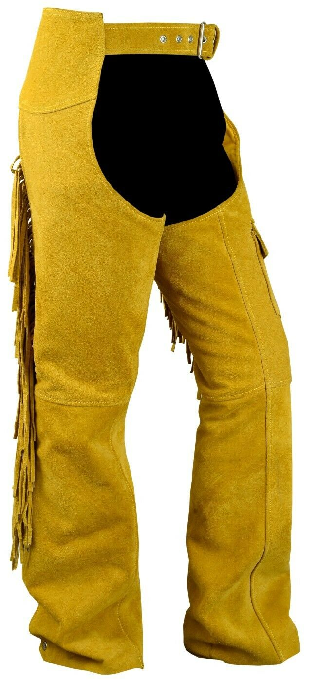 German wear, Chaps frange Pantaloni cavaliere Cowboy Indiani Western gambali OCRA