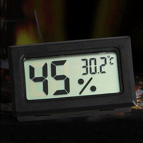 Mini Digital LCD Indoor Temperatur Luftfeutigkeit Thermometer Hygrometer PP