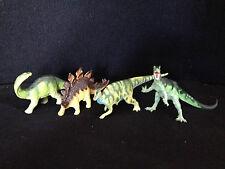 Lot of 4 Safari Carnegie Collection Dinosaurs Stegosaurus Apatosaurus Allosaurus