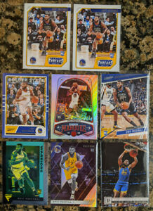 Lot-of-8-Eric-Paschall-2019-20-Chronicles-Rookie-Warriors-Flux-Chrome-Holo