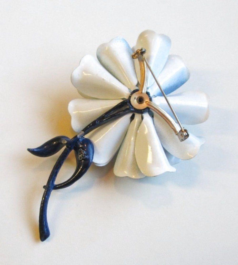 VINTAGE Art Nouveau Style Poppy Pansy Daisy Wild … - image 3