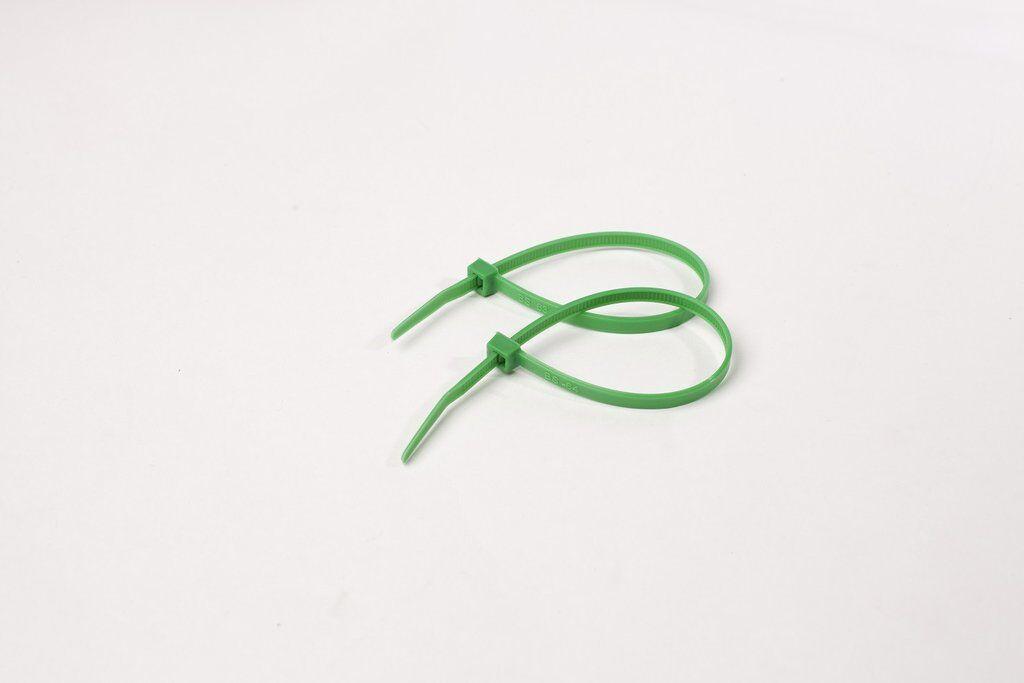 200x GREEN MEDIUM CABLE ZIP TIES 200 x 4.8mm Strong Nylon Tidy High Quality UK
