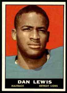 1961-Topps-30-Dan-Lewis-ROOKIE-Detroit-Lions-Wisconsin-Badgers