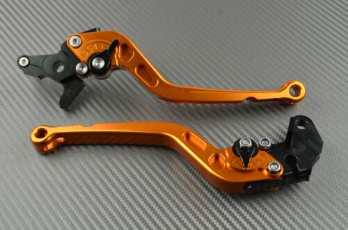 Long Brake /& Clutch Levers Lever Pair Orange CNC YAMAHA RAPTOR 700 2010-2015