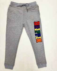Hudson-Outerwear-100-AUTHENTIC-Men-039-s-LARGE-rainbow-drippin-jogger-pants