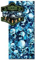 Capsmith Rap A Cap Blue And Black Skull Party Multi Function Headwear Biker Atv