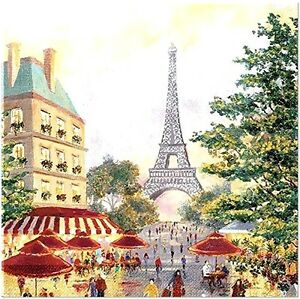 TWO (2) Paris, Eiffel Tower, Cocktail Napkins for Decoupage and Paper Crafts