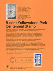 7201-8c-Yellowstone-Park-Stamp-1453-Souvenir-Page-w-o-Watermark-Rare