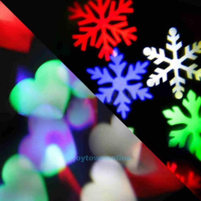 New LED Laser Snowflake Moving Light Landscape Projector Xmas Party Garden Lamp