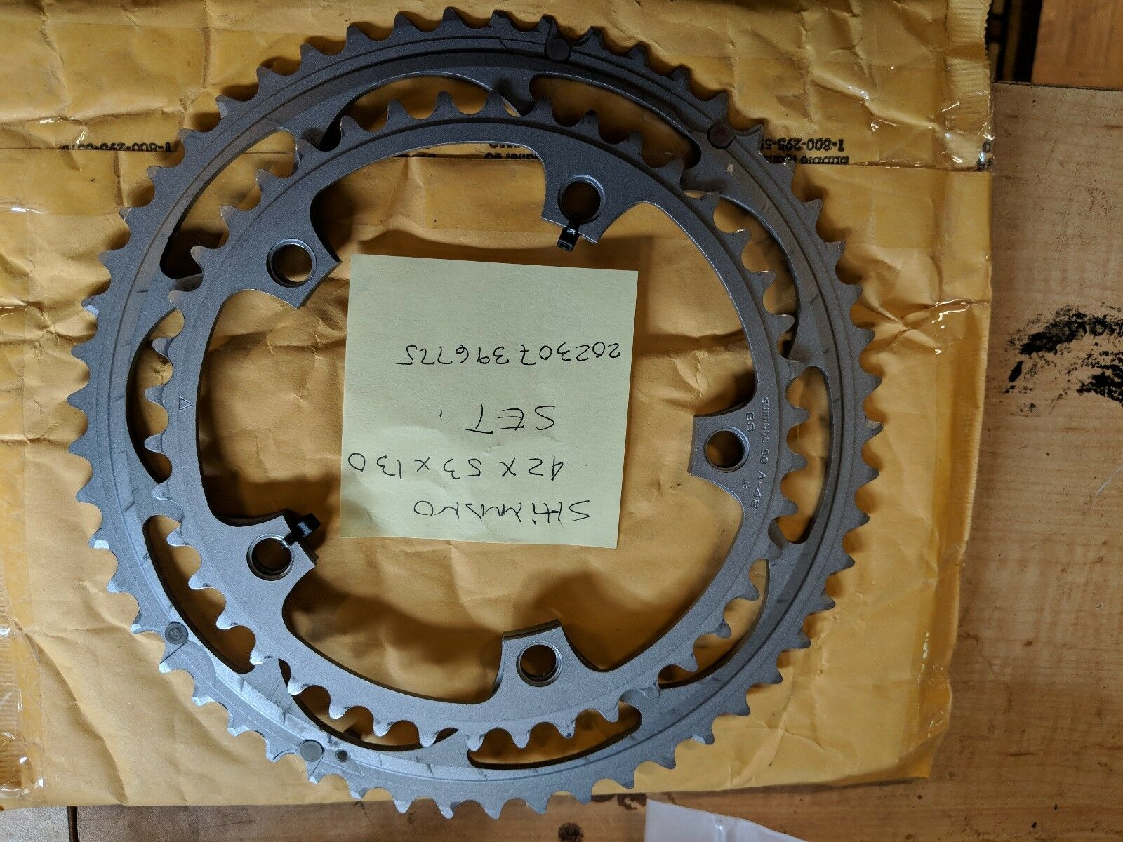 Shimano SG A53 SG 42 Chainring Set. 130bcd. 9 Speed