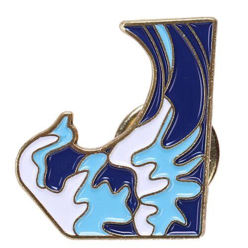 Blue Waves Brooch Enamel Pin Buckle Cartoon Metal Brooch For Coat Jacke 8X2 10X