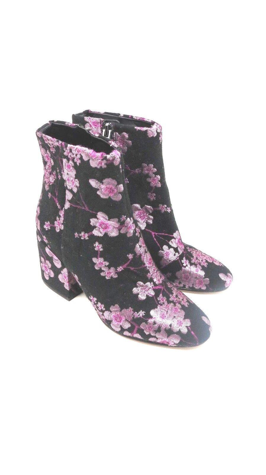 Sam Edelman  Taye Black Color Pink Floral  Boots  Size 6