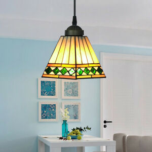 Details About Tiffany Style Stained Glass Pendant Light Fixtures Retro Hanging Ceiling Lamp
