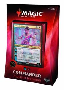 NEW-Magic-The-Gathering-2018-Commander-Deck-Exquisite-Invention-Foil-TCG-MTG