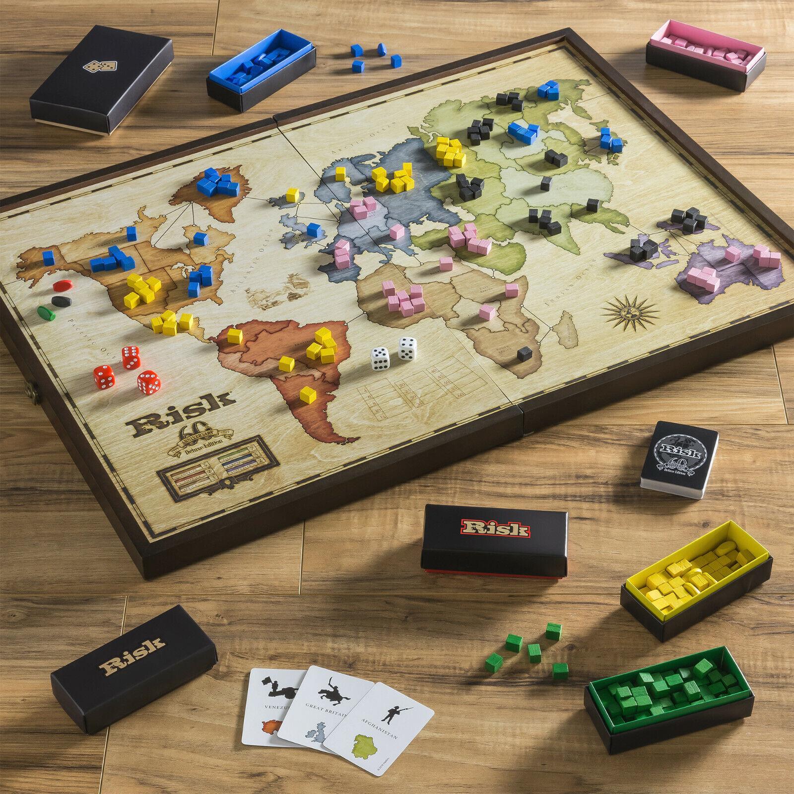 Riesgo el juego de dominación global 60th Aniversario Edición De Lujo De Madera Board