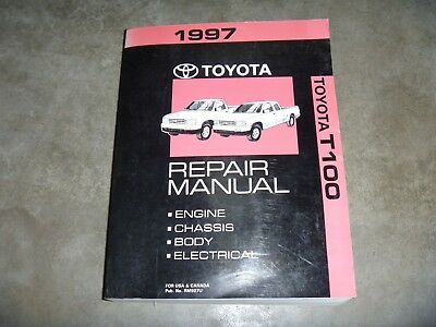 1997 Toyota T100 Pickup Truck Shop Service Repair Manual ...