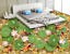 3D-Lotus-Goldfish-573-Floor-WallPaper-Murals-Wallpaper-Mural-Print-AJ-AU-Lemon