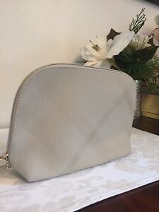Burberry Beige Beauty Makeup Cosmetic Bag Case Purse Clutch Handbag ... e97c8a1ce1