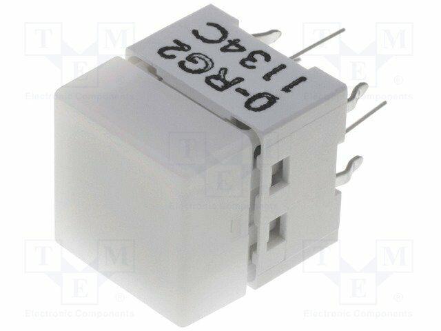 B3W-9000-RG2N Switch: keypad - Positions:2 - SPST-NO - 0.05A/24VDC - white - 1.5