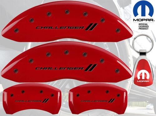 MGP Caliper Brake Cover For Dodge 2009-2010 Challenger Black Fill on Red Paint
