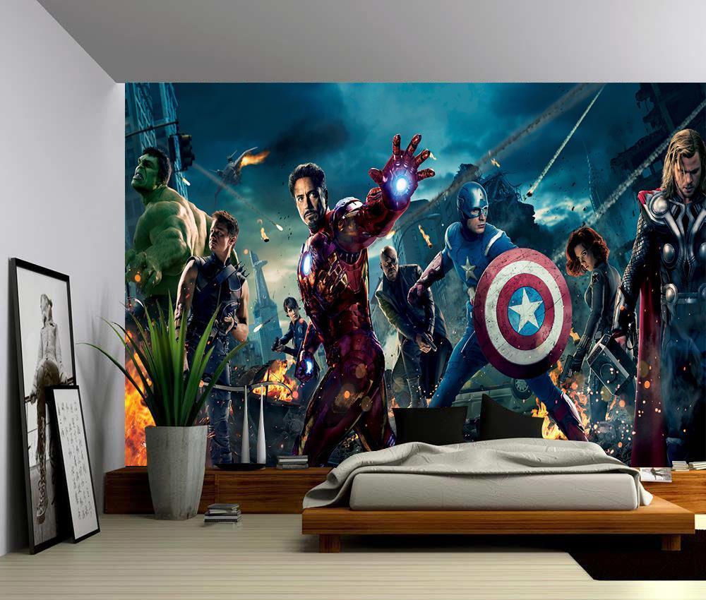 Photo Photo Photo Wallpaper Wall Mural Woven Self-Adhesive Art Avengers Marvel Iron Man M05 adbf4a