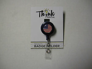 ID-Holder-USA-Flag-By-Becker-Brands-Int-Retractable-Reel-1-25-034-Brand-New