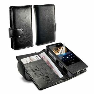 TUFF-LUV-Wallet-style-Faux-Leather-Case-Cover-for-FiiO-X7-amp-X7-ii-MP3-Black