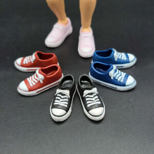 """1/12 Scale Shf Low-top Canvas Shoes Sports Shoes Hollow Fit 6"""" Male Figure Doll"""
