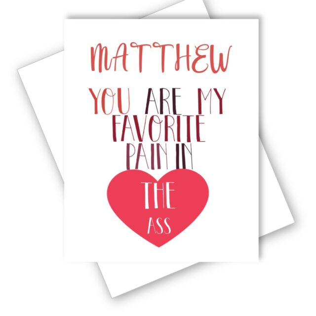 NICE ASS LOVE VALENTINES DAY ANNIVERSARY CARD HUMOUR BANTER CAN BE PERSONALISED