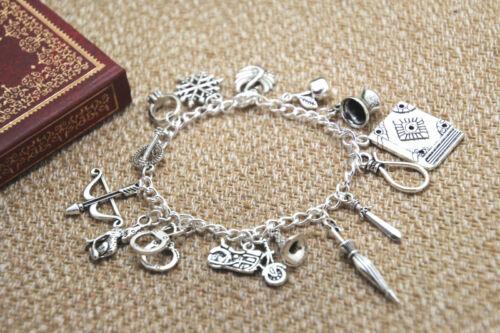 Once Upon a Time Inspired Charm Bracelet Emma Swan Hook Regina Snow Henry Swan
