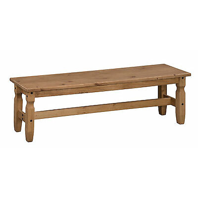 """Corona 5'0"""" Dining Bench Mexican Solid Pine Long Seat by Mercers Furniture®"""