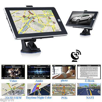 """7"""" HD Pantalla GPS Navegador Para Coche Actualización Gratis de Mapa Europeo 8GB"""