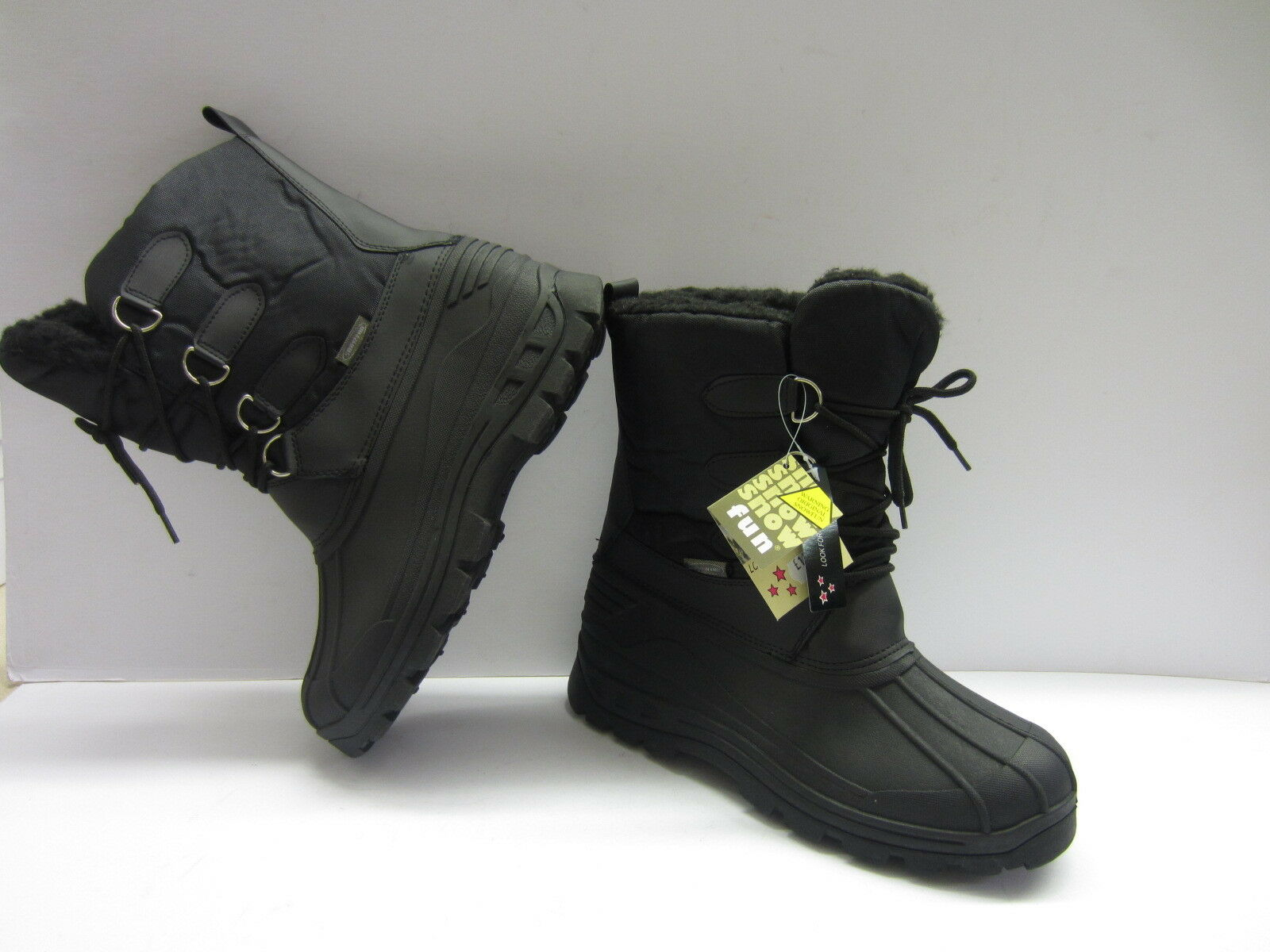 Snow Fun Ladies Black Thermal Winter Boots