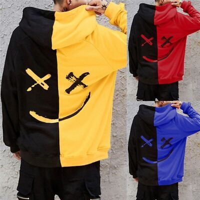 Unisex Teen/'s Smiling Face Fashion Print Hoodie Sweatshirt Jacket Pullover 9