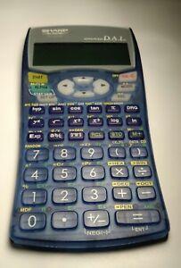 sharp el 531w scientific calculator advanced dal transparent blue w rh ebay com Sharp Scientific Calculator Sharp Scientific Calculator