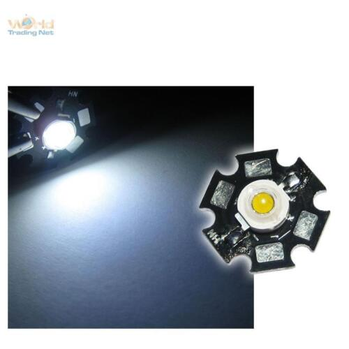 10 x Hochleistungs LED Chip 1W pur-weiß HIGHPOWER STAR