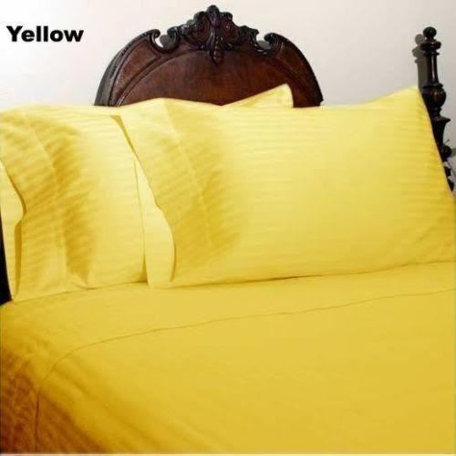 1000 TC New Egyptian Cotton Bedding Collection All US Size /& Striped Colors