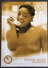 2016 Topps Olympics Gold 5X7 Jumbo Card Simone Biles Gymnastics 1/10 Rare