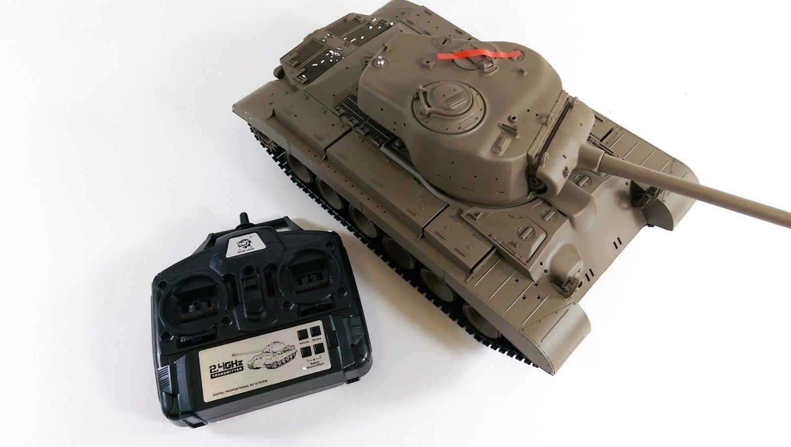 2.4GHz Radio Control Battle R C Snow Leopard RC Tank BB Smoke Sound Heng Long