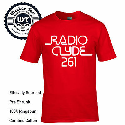 Radio Clyde 261 T-Shirt worn by Frank Zappa Mothers of Invention Free UK P+P