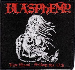 Blasphemy- Live Ritual Patch Behemoth Rotting Christ Black Death Metal Revenge